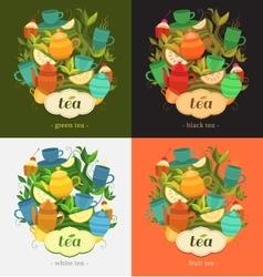 Label design for tea vector
