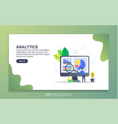 landing page template analytics modern flat vector image