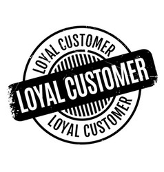 Loyal customer rubber stamp vector
