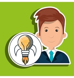 Man young idea icon vector