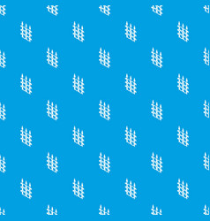 metal fence pattern seamless blue vector image