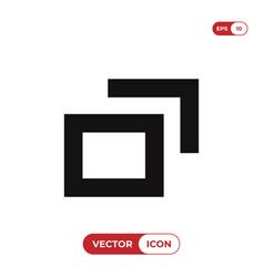 minimize icon vector image