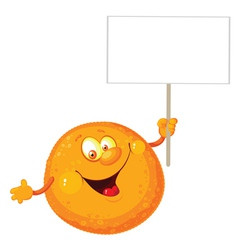 orange with a blank sign vector image