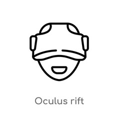 Outline oculus rift icon isolated black simple vector