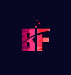 Pink blue background color alphabet letter vector