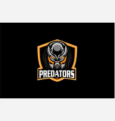 Predators logo sports vector