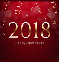 red new year postcard vector image