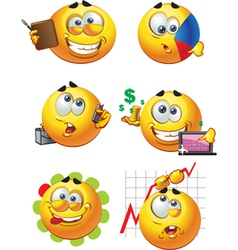 round business smiles vector image