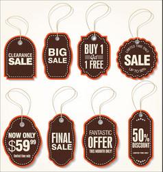 sale labels set 2 vector image
