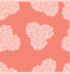 Seamless floral background pattern nature theme vector