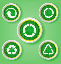 set of arrows on white badges collectors set vector image