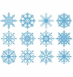 Set of brand new snowflakes vector
