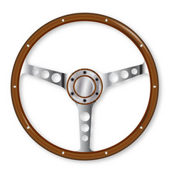 Sports steering wheel vector
