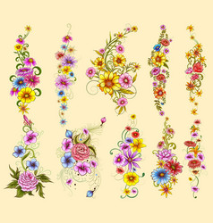 tattoo art design floal flower collection vector image