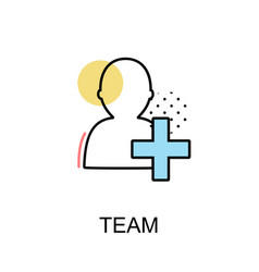 team graphic icon vector image