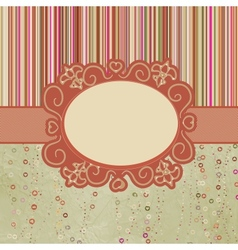 Template frame design for greeting card EPS 8 vector image