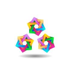 Three abstract stars vector