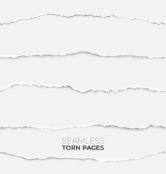 torn page seamless texture paper edge backdrop vector image