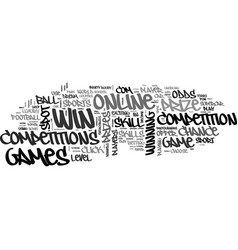 Win a car online text word cloud concept vector