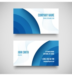 business card set elements for design vector image vector image