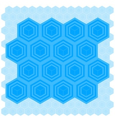 Cube Pattern Tile vector image vector image