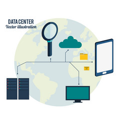 data center connection hardware network vector image