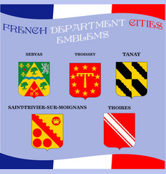 official emblems of cities of french department vector image