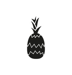pineapple on white background vector image vector image