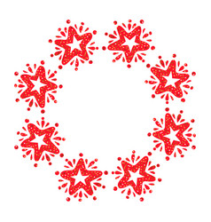 christmas star wreath isolated on white background vector image
