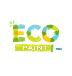 eco paint grunge brush creative rough vector image vector image