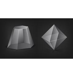 transparent figures vector image vector image