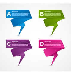 Abstract business options paper infographics vector image