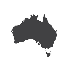 Australia map silhouette vector image vector image