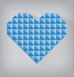 blue retro heart triangle abstract love valentine vector image vector image