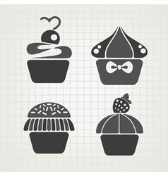 cakes symbols vector image vector image
