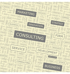 CONSULTING vector image