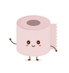 funny happy cute smiling toilet paper vector image