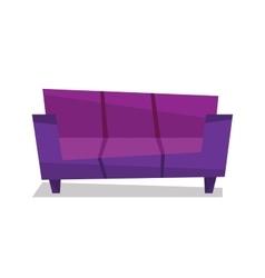 Purple modern sofa vector image