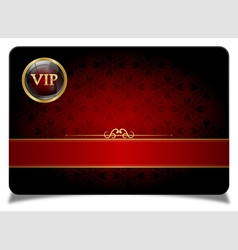 Red vip card vector image