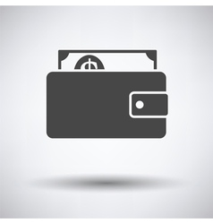 Wallet with cash icon vector image