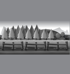 farm landscape black and white for vector image vector image