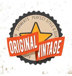 original vintage round seal stamp vector image