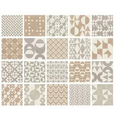 20 seamless neutral halftone geometric pattern set vector