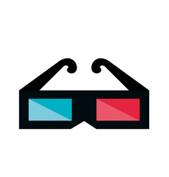 3d glasses cinema icon vector