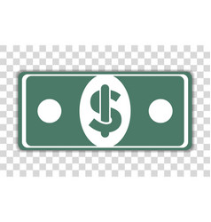 A dollar banknote with transparent background vector