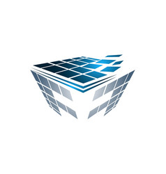 Abstract box cube logo icon template apps vector
