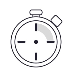 Analog chronometer icon vector