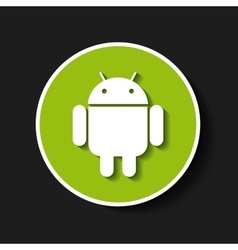 android classic emblem icon vector image