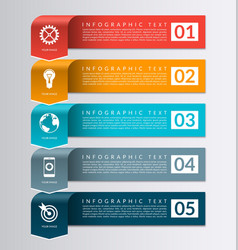 Arrow banner for business infographics vector