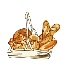 Bakery bread products vector